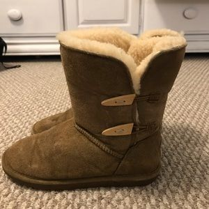 Bear paw suede boots